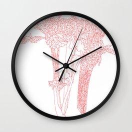 Celery Outline Wall Clock