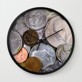 United States - Jumble of Old Coins Wall Clock