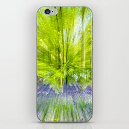 Rushing through thebluebells iPhone Skin
