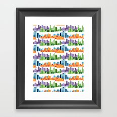 Australian Cities Framed Art Print
