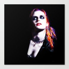 Kristen Stewart - Luminous Punk Glow Canvas Print
