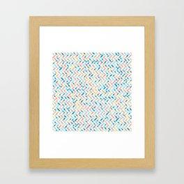Peaches by the Sea Framed Art Print