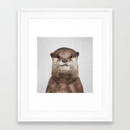 Otter - Colorful Framed Art Print