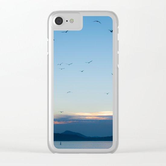 Birds Croatie Lokrum Clear iPhone Case