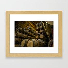 Winery Barrels Framed Art Print