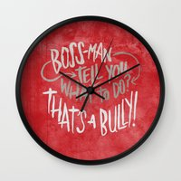 tim shumate Wall Clocks featuring Tim Fite by Josh LaFayette