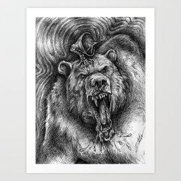 Bear Guardian Art Print