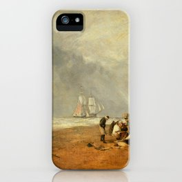 "J.M.W. Turner ""The Fish Market at Hastings Beach"" iPhone Case"