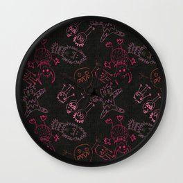 Neon Monsters Wall Clock