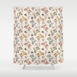 Scoot Scoot Shower Curtain
