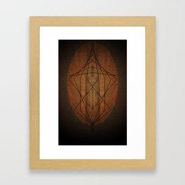 Rock Geometry Framed Art Print