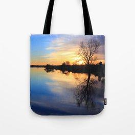 Floodplain at Sunset 1 Tote Bag