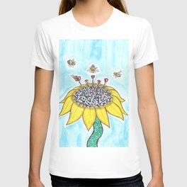 Bees at Work in Blue T-shirt
