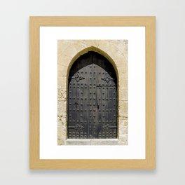 Old Black Door Framed Art Print