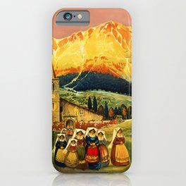 Vintage Abruzzo Italy Travel iPhone Case