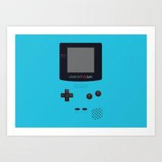 GAMEBOY Color - Light Blue Version Art Print
