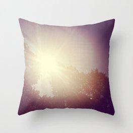 the sun spot Throw Pillow