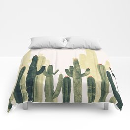 cactus natural vertical Comforters