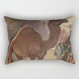 Vintage Camel Painting (1909) Rectangular Pillow