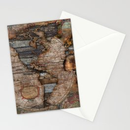 Reclaimed Map Stationery Cards
