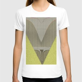 Light green and gray abstract Design T-shirt