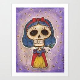 Blanca Nieves Day of the Dead Art Print