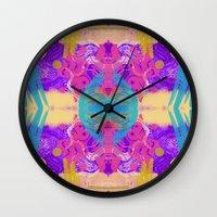 glitch Wall Clocks featuring GLITCH  by Vasare Nar