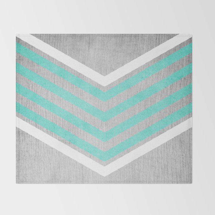 Teal And White Chevron On Silver Grey Wood Throw Blanket By Best Grey And White Chevron Throw Blanket
