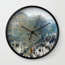 Claude Monet - Boulevard des Capucines (new color editing) Wall Clock