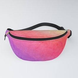 Abstract hand painted violet lilac pink yellow watercolor ombre Fanny Pack