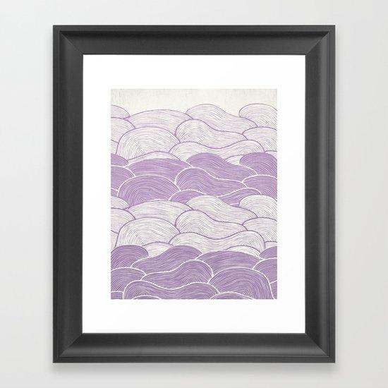 The Lavender Seas Framed Art Print
