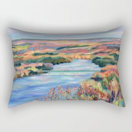 Autumn on the Delaware River Rectangular Pillow