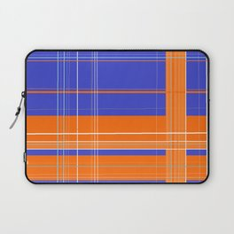 Orange and Blue Plaid Laptop Sleeve