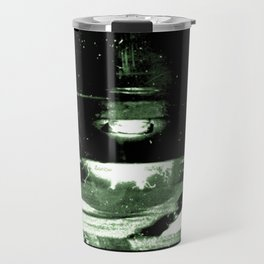 Digital Dissonance Green Travel Mug