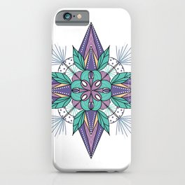 Mandala in Purples and Turquoise iPhone Case