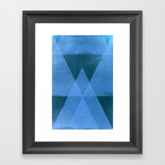 Distressed Triangles Framed Art Print