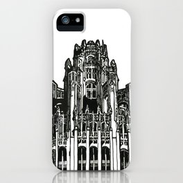 Triptych 3 - Tribune Tower - Original Drawing iPhone Case