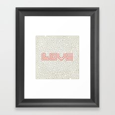 Love game Framed Art Print