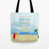 lilo and stitch Tote Bags featuring choice waves.. lilo and stitch by studiomarshallarts