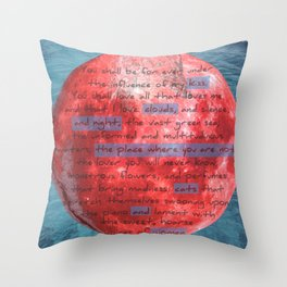 Things to kiss.. Throw Pillow