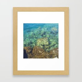 Greek Sea Water Framed Art Print