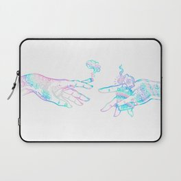 the creation of weed- holographic Laptop Sleeve