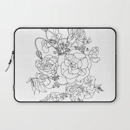 Floral Ink - Black & White Laptop Sleeve
