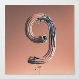 Number 9 Drippimats Canvas Print