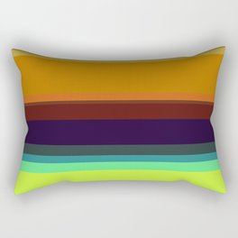 Color stripes I Rectangular Pillow