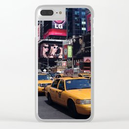 times square taxis Clear iPhone Case