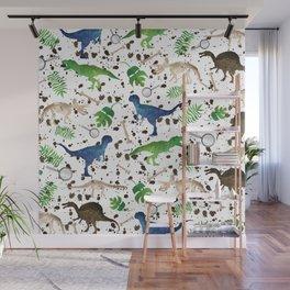 Watercolor Dinosaurs Wall Mural