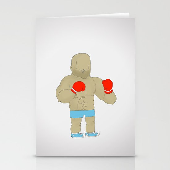 Two Boxers Stationery Cards