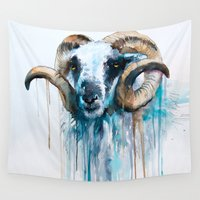 sheep Wall Tapestries featuring Sheep by Slaveika Aladjova