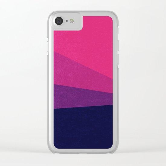 Stripe VII Ultraviolet Clear iPhone Case